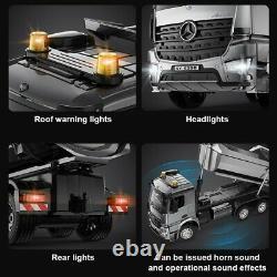 120 Mercedes Benz AROCS RC Dump Truck Model Alloy Tipper Remote Control Car Toy