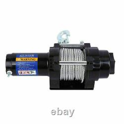 12V 4000LBS Electric Recovery Winch Heavy Duty Trailer Truck Remote Control Rope