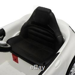12V Kids Ride On Car Electric Licensed MERCEDES BENZ Remote Control Motors White