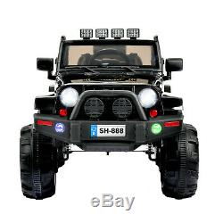 12 V Electric Kids Ride On Car ATV SUV Remote Control 4 Speeds Music Black