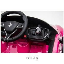 12v PINK MASERATI GHIBLI ELECTRIC RIDE ON CAR WITH PARENTAL REMOTE CONTROL