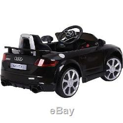 12v Twin Motors Audi Tt Kids Electric Ride On Car Parental Remote Control Black
