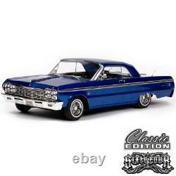 1/10 Chevrolet Impala SS 1964 RC Car Hopping Lowrider Blue Classic Edition RTR