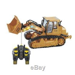 1/12 RC Truck Excavator Digger Bulldozer Remote Control Toy with Sound & Light