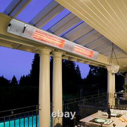 1-3kW Electric Patio Heater Infrared Outdoor Garden Wall Mounted Remote 3 Levels