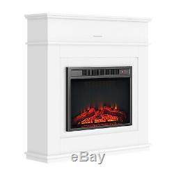 1.8KW Electric Fireplace Suite LED Log Fire Burning Flame MDF Surround Cabinet
