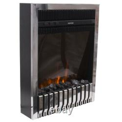 2000W Electric Fireplace Insert LED Heater Stove Adjustable Flame Remote Control