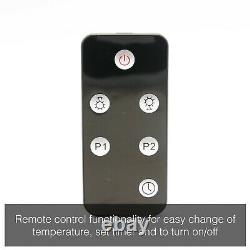 2KW Outdoor Electric Patio Heater Garden Wall Mounted Variable Infrared Remote
