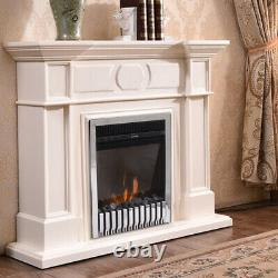 2KW Remote Control Modern Electric Fireplace LED Fire Place Heater Inset Stove