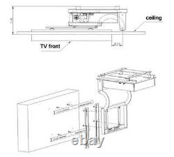 32-70 in LCD TV Ceiling Rack Bracket Electric Remote Control Lift Turner Stander
