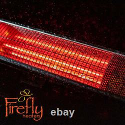 3kW Wall Mounted Electric Patio Heater Remote Control Stainless Steel Firefly