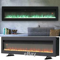 40 Inch Led Flames Thin Inset Into Fire Wall Mounted/free Standing Electric Fire
