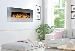 60 Inch Luxury Led Digital Flames Stainless Steel Wall Mounted Electric Fire