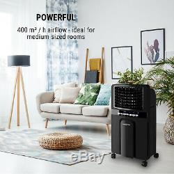 Air Cooler Portable Conditioning Room 4in1 Fan 6L 65W Ioniser Humidifier Black