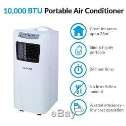 Amcor 10000 BTU Slimline Portable Air Conditioner Mobile Air Conditioning Unit