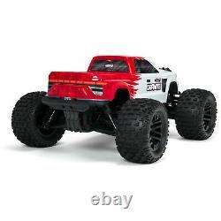Arrma Granite 1/10 Scale 4x4 Mega RC Remote Control Monster Truck RTR Red/White