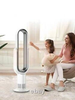 Bladeless Tower Fan With Remote Control Air Flow Cooling Home Office Fans