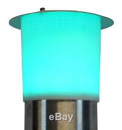 Bluetooth Electric Patio Heater LED Lights & Remote 1500w Water Resistant