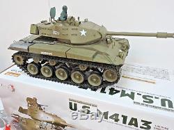 Bulldog M41A3 US Military Smoking RC Radio Remote Control Battle Tank Heng Long