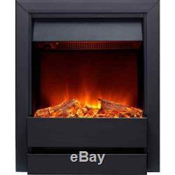 Burley 176R-BL Wardley Log Effect Electric Fire with Remote Control Black