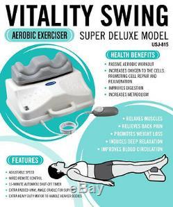 Chi Vitalizer Vitality Swing Cardio Exercise Massager Machine Energizer Flow NEW