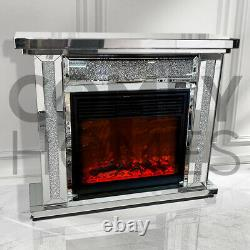 Crushed Crystal Column Fireplace FREE DELIVERY AVAILABLE