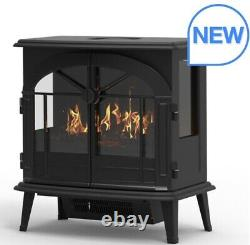 Dimplex Beckley Optimyst 2kw Electric Stove Fire Black Real Flame Remote Control