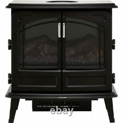 Dimplex FOR20 Fortrose Log Effect Freestanding Electric Fire Graphite