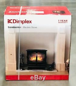 Dimplex Somborne SMB20 2kW Electric Flame Effect Stove Matt Black Remote Control