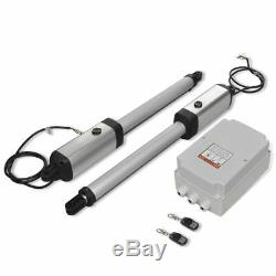 Double Arms Swing Gate Opener Remote Control Electric Auto Door Gate Kit 200 kg