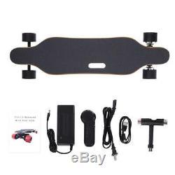 Double Motor Electric Skateboard Longboard 38km/h 14M Wireless Remote Control