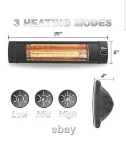 Dr. Infrared Heater 1500W Carbon Infrared Indoor Outdoor Patio Heater With Remote