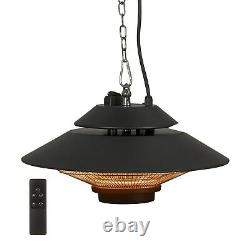 ElectriQ Ceiling Hanging Electric Infrared Patio Heater with Remote Control