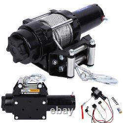 Electric 4000lbs Recovery Winch Kit ATV Trailer Truck Car DC 12V Remote Control