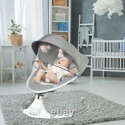 Electric Baby Rocker Bouncer Swing Chair Cradle Mosquito Net Remote Control