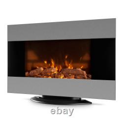 Electric Fireplace Fire Flame Effect Room Indoor Heating 2000 W LED Light Wall
