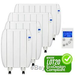 Electric Panel Heater Radiator Slim Wall Mounted All Sizes With Timer Convector