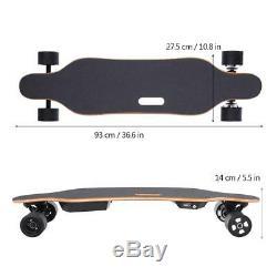 Electric Skateboard Longboard 38km/h Wireless Remote Control Double Motor 450W