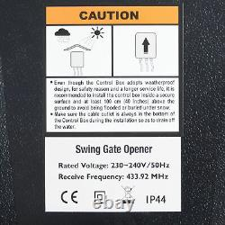 Electric Swing Gate Opener with Remote Control Complete Kit Single Arm Opener