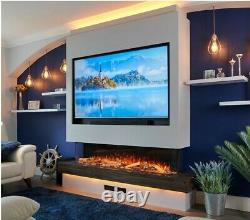Electric fire 1000mm (40)wide 3/2/1sided glass Media wall fire