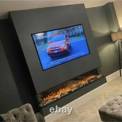 Electric fire 1500mm (60)wide -1/2 or 3sided glass media wall fires
