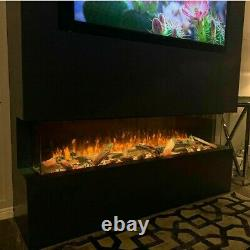 Electric fire SF1500 60wide -1/2 or 3sided glass media wall fires