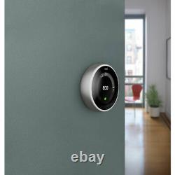 Google Nest 3rd Generation Smart Learning Thermostat Wi-Fi Stainless Steel