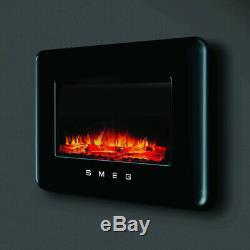 Graded Smeg L30FABEBL Black Retro Style Electric Fire (FIRE-30-39) RRP £699