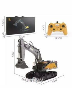 HUINA 1592 RC Excavator 2.4Ghz Remote Control Toy Metal Bucket Construction Vehi