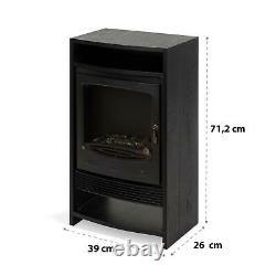 Heater Electric Fireplace Modern Fire Wood Flame Fan Classic 900-1800 W Black