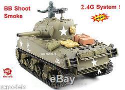 Heng Long Radio Remote Control 2.4G RC Tanks M4A3 SHERMAN 1/16th UK