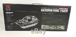Heng Long Radio Remote Control RC King Tiger 2 Panzer Model Tank 1/16th 2.4GHz