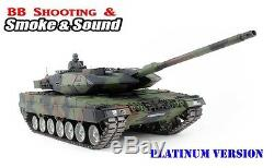 Heng Long Radio Remote Control RC Tank NATO Leopard 2A6 - Platinum