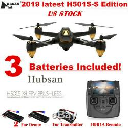 Hubsan H501S X4 Drone 5.8G FPV RC Quadcopter with 1080P HD Camera, LED, RTH RTF